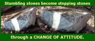 Stones stumbling stepping
